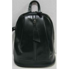 Женский кожаный рюкзак (тёмно-зелёный) 18-11-003