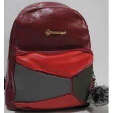 Рюкзак женский (бордовый) 18-12-120