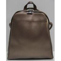 Женский кожаный рюкзак-сумка (бронзовый перламутровый) 19-04-005