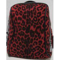 Городской велюровый рюкзак (красный) 19-05-183