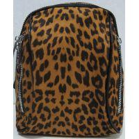 Городской велюровый рюкзак (коричневый) 19-05-183