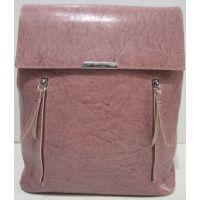 Городской глянцевый рюкзак - сумка  (пудра) 19-06-036
