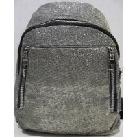 Городской рюкзак с блёстками  (серябряный) 19-06-046
