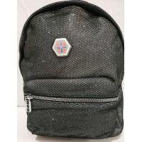 Женский городской рюкзак (серебряный) 19-07-027