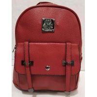 Городской небольшой рюкзак с ремешками (тёмно-красный) 19-08-034