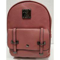 Городской небольшой рюкзак с ремешками (бургунд) 19-08-034