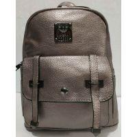Городской небольшой рюкзак с ремешками (бронзовый) 19-08-034