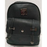 Городской небольшой рюкзак с ремешками (чёрный) 19-08-034