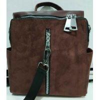Женский стильный рюкзак-сумка (шоколадный) 19-11-034