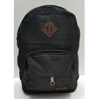 Мужской тканевой рюкзак (чёрный) 21-08-044