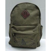 Мужской тканевой рюкзак (хаки) 21-08-047