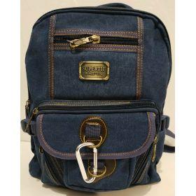 Мужской джинсовый рюкзак (синий) 19-05-163
