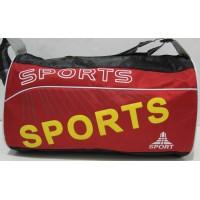 Небольшая спортивная сумка (чёрная с красным фасадом) 17-6-029