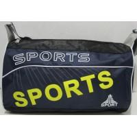 Небольшая спортивная сумка (чёрная с синим фасадом) 17-6-029