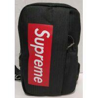 Тканевая спортивная сумка через плечо с USB (чёрная) 19-09-006