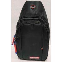 Тканевая сумка-бананка через плечо  SPORT (чёрная) 19-09-013