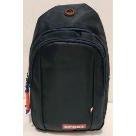 Тканевая сумка-бананка через плечо  SPORT (синяя) 19-09-013