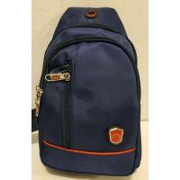 Тканевая сумка-бананка через плечо (синяя) 19-09-014