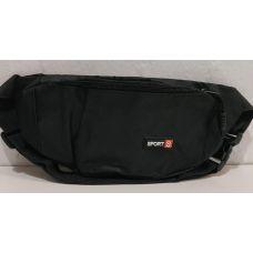 Спортивная сумка-бананка (чёрная) 20-03-074