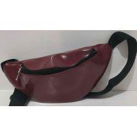 Женская сумка-бананка  (бордовая) 20-06-025