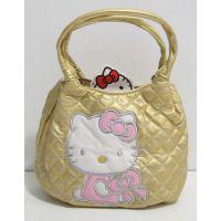 Детская стёганая сумочка Hello Kitty (под золото) 17-01-007