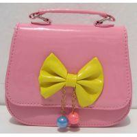 Детская сумочка - клатч с бусинками  (розовая)17-12-149