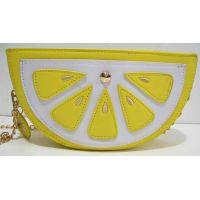 """Сумочка-клатч """"Лимон"""" (жёлтая) 18-06-196"""