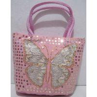 Детская сумочка с бабочкой (светло-розовая) 18-12-210