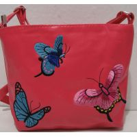 Детская сумочка с вышивкой (коралловая) 18-12-212