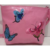 Детская сумочка с вышивкой (розовая) 18-12-212