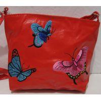 Детская сумочка с вышивкой (красная) 18-12-212