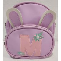 Детская сумочка-рюкзак с ушками (сиреневая) 19-08-024