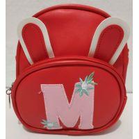 Детская сумочка-рюкзак с ушками (красная) 19-08-024
