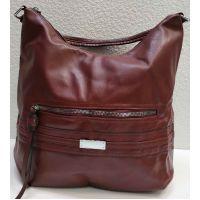 Женская сумка на два отделения (бордовая) 20-11-333