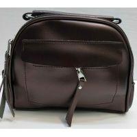 Женская сумка кросс-боди (коричневая) 21-02-004