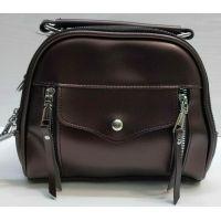 Женская сумка кросс-боди (коричневая) 21-02-006