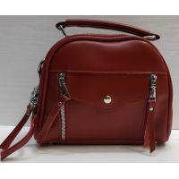 Женская сумка кросс-боди (красная) 21-02-006