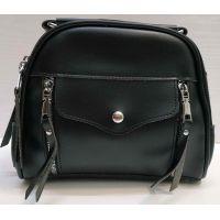 Женская сумка кросс-боди (чёрная) 21-02-006