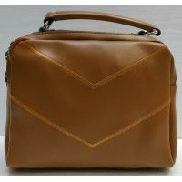 Женская сумка кросс-боди (рыжая) 21-02-008