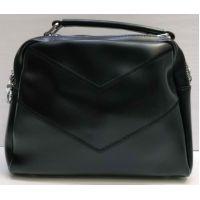 Женская сумка кросс-боди (чёрная) 21-02-008