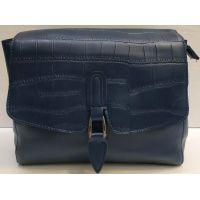 Женская сумка-клатч (синяя) 21-02-009