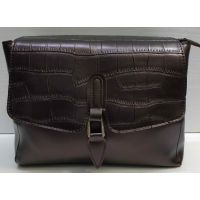 Женская сумка-клатч (шоколадная) 21-02-009