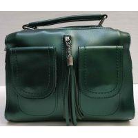 Женская сумка кросс-боди (зелёная) 21-02-015