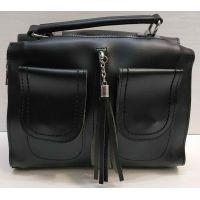 Женская сумка кросс-боди (чёрная) 21-02-015