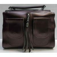 Женская сумка кросс-боди (шоколадная) 21-02-015