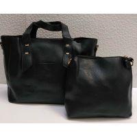 набор 2 в 1: сумка + клатч (чёрный) 21-04-009