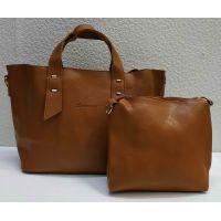 набор 2 в 1: сумка + клатч (рыжий) 21-04-009