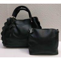 набор 2 в 1: сумочка + клатч (чёрный) 21-04-010