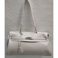 Женская сумка на защёлке (молочная) 21-04-020