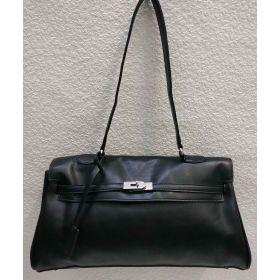 Женская сумка на защёлке (чёрная) 21-04-020